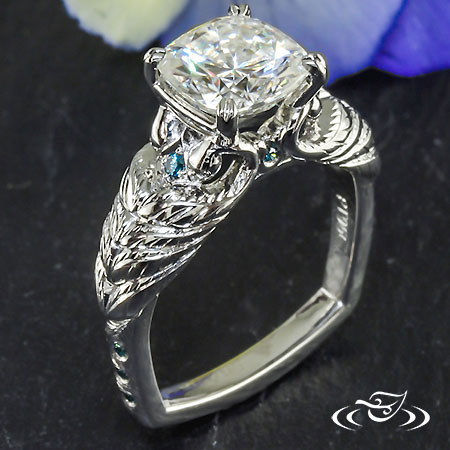 PEACOCK ENGAGEMENT RING