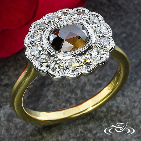 RINGHAMMER COLLECTION- COGNAC ROSECUT DIAMOND ENGAGEMENT RING