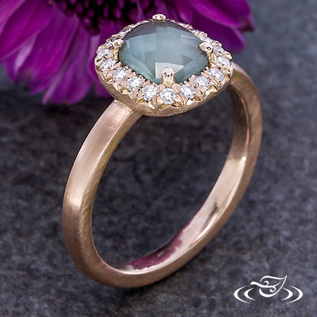 ROSE CUT DIAMOND  HALO