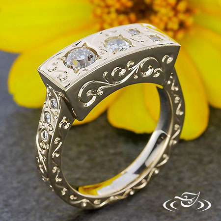 DIAMOND CONSTELLATION AND SCROLL RING