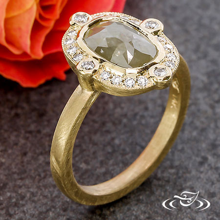 RINGHAMMER COLLECTION-ROSE CUT DIAMOND RING