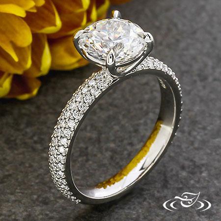 PAVE DIAMOND SOLITAIRE
