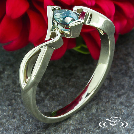 MARQUISE TWIST ENGAGEMENT RING