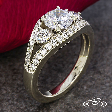 THREE STONE WEDDING RING