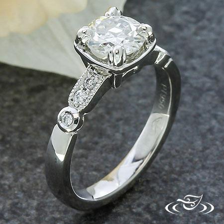 OLD EUROPEAN DIAMOND VINTAGE ENGAGEMENT RING