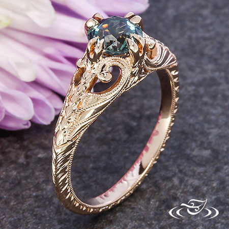 ANTIQUE FEATHER ENGAGEMENT RING