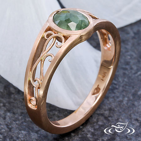 ROSE CUT AND ROSE GOLD ENGAGEMENT RING