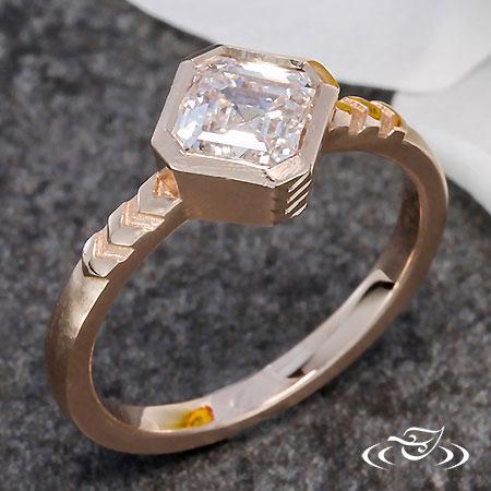 ART DECO ROSE GOLD ENGAGEMENT RING