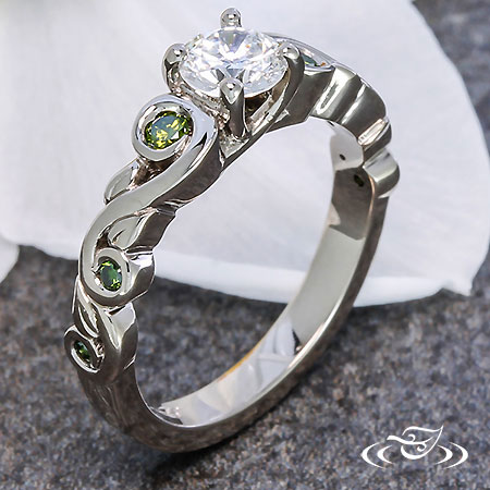 ORGANIC GREEN DIAMOND ENGAGEMENT RING