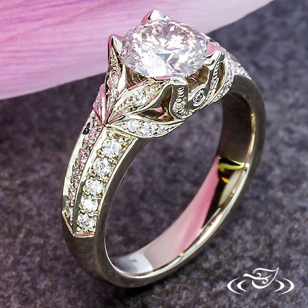 DOUBLE LEAF ENGAGEMENT RING