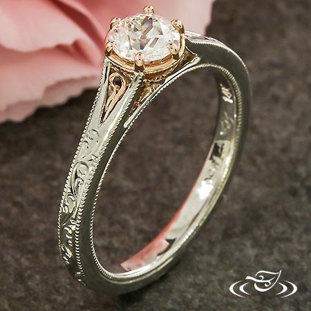 ROSE GOLD & PLATINUM ANTIQUE RING