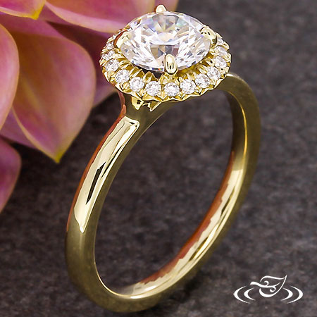 18KT YELLOW GOLD HALO