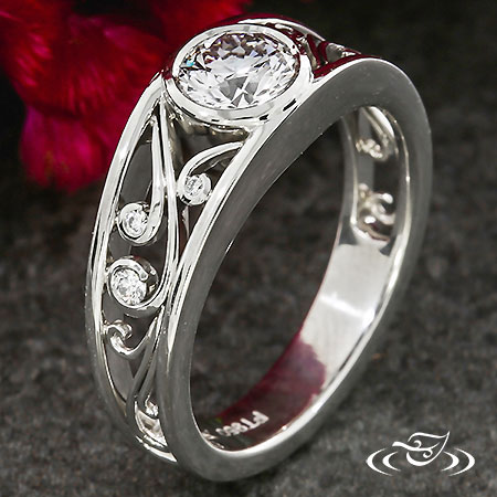 FILIGREE CURL ENGAGEMENT RING