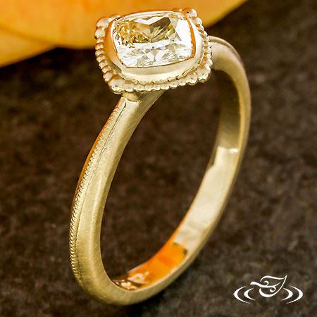 YELLOW DIAMOND FULL BEZEL RING