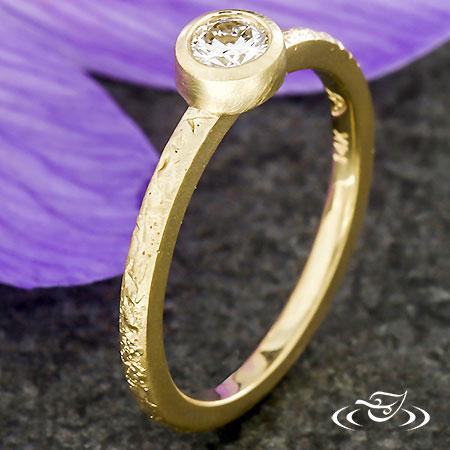 STACKABLE DIAMOND BEZEL RING