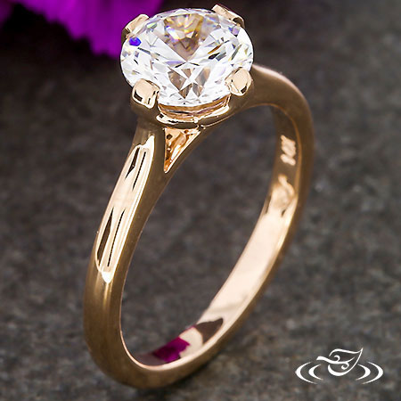 ROSE GOLD TULIP SOLITAIRE