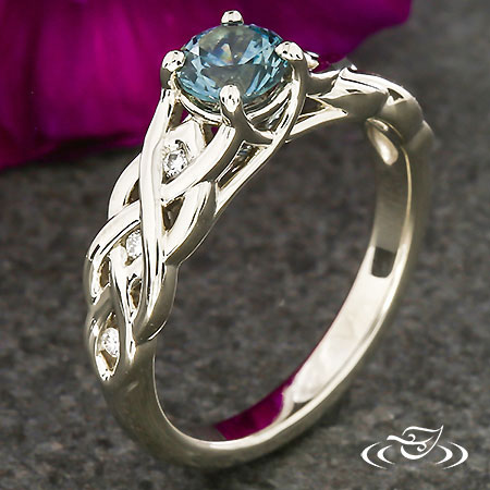 MONTANA SAPPHIRE CELTIC BRAID ENGAGEMENT RING
