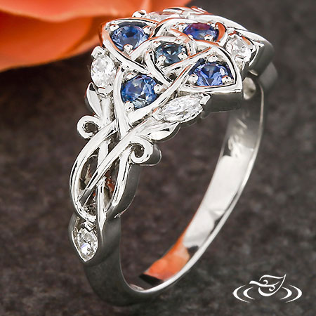 CELTIC FLORAL ENGAGEMENT RING