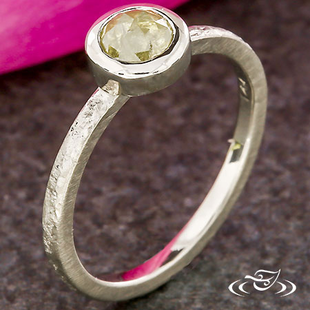 STACKABLE RUSTIC DIAMOND RING