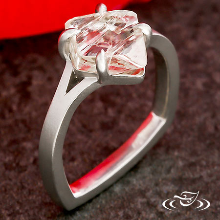 ROUGH DIAMOND MODERN ENGAGEMENT RING