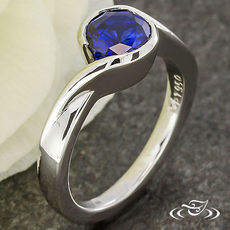 BLUE SAPPHIRE WRAP ENGAGEMENT RING