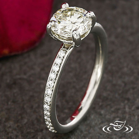 DIAMOND ACCENTED SOLITAIRE