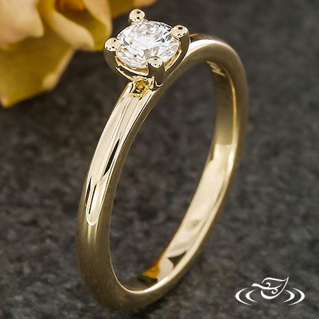 DAINTY FOUR PRONG ENGAGEMENT RING