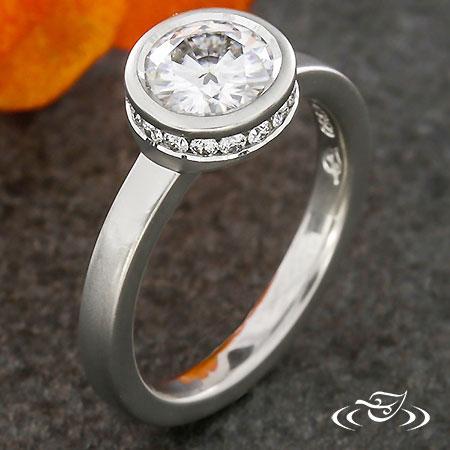 MODERN BEZEL DIAMOND ENGAGEMENT RING