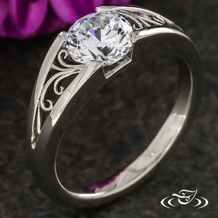 FLUSH FILIGREE ENGAGEMENT RING