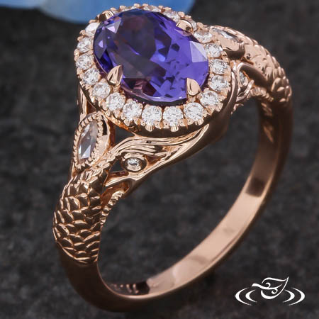 UNDER THE SEA PURPLE SAPPHIRE ENGAGEMENT RING