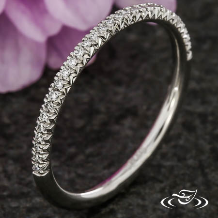 FRENCH SET PAVE BAND