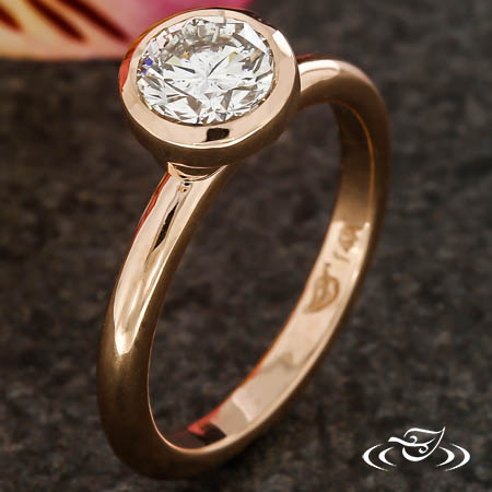 CONTEMPORARY BEZEL DIAMOND ENGAGEMENT RING