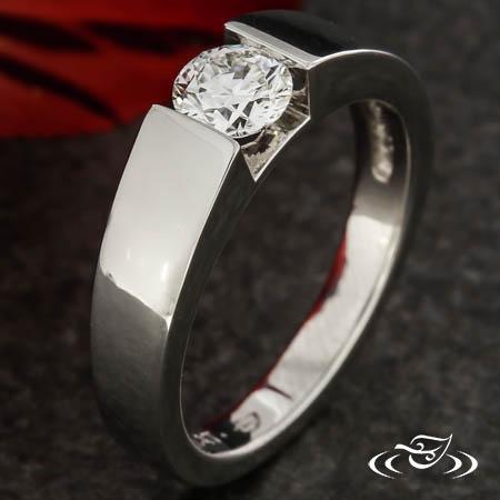 FAUX TENSION DIAMOND RING