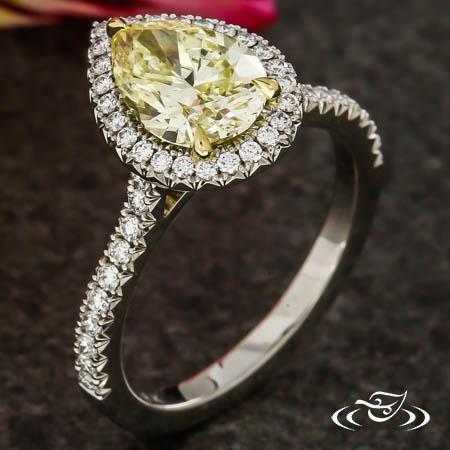 YELLOW PEAR DIAMOND HALO