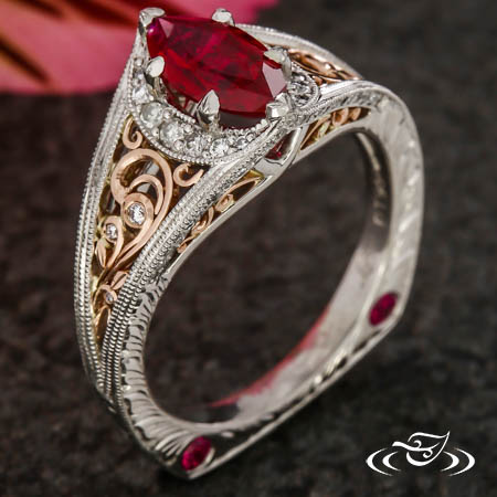 MARQUISE RUBY ENGAGEMENT RING