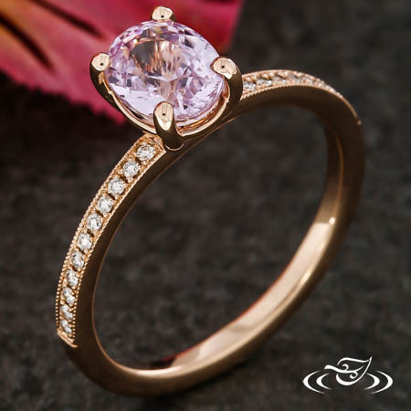 BLUSH SAPPHIRE AND ROSE GOLD SOLITAIRE