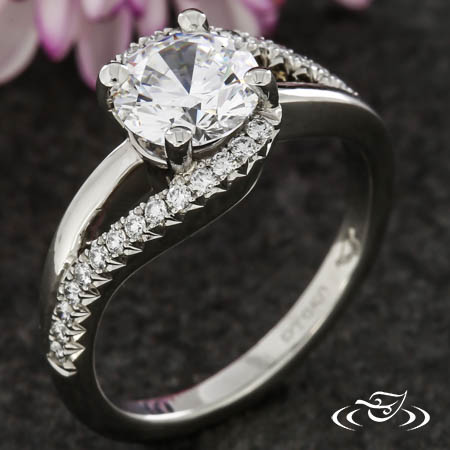 BYPASS STYLE ENGAGEMENT RING