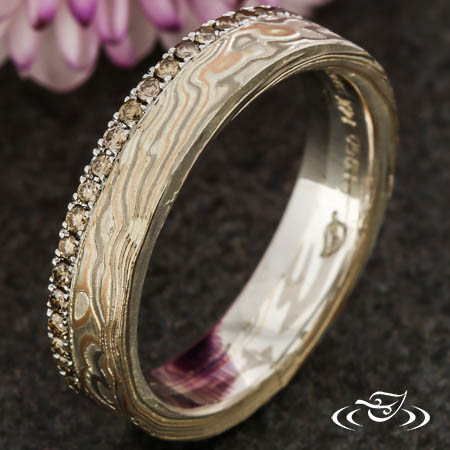 MOKUME DIAMOND BAND
