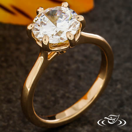 SIX PRONG ROSE GOLD SOLITAIRE