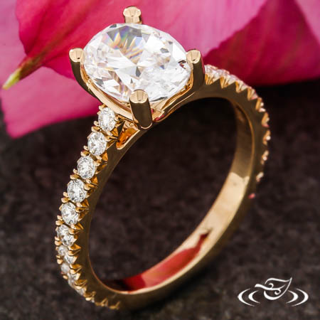 OVAL ROSE GOLD SOLITAIRE