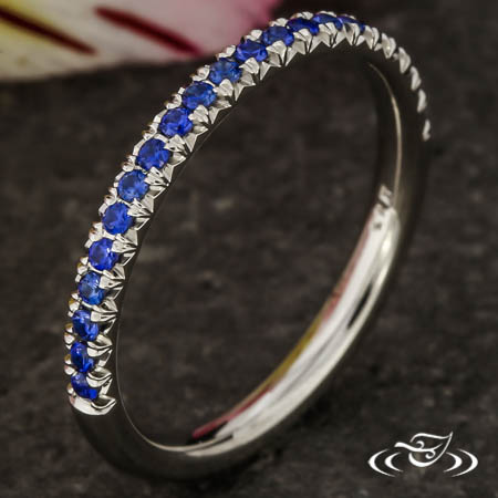 FRENCH PAVE SAPPHIRE BAND