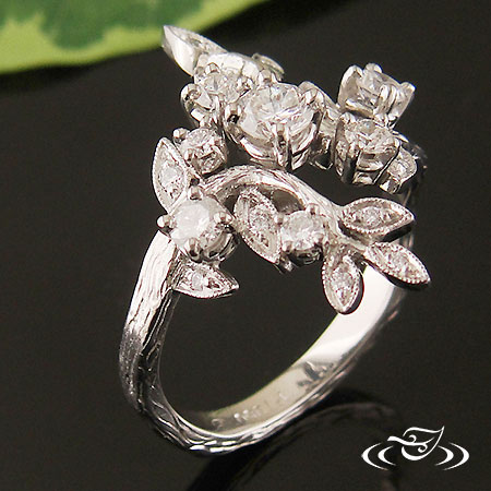 LEAF AND VINE ENGAGEMENT RING