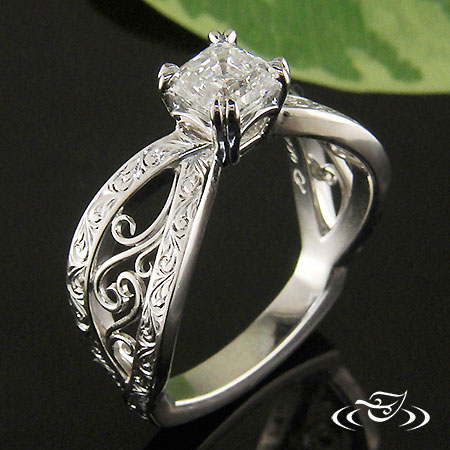LOVELY FILIGREE ENGAGEMENT RING