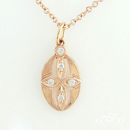 14K ROSE GOLD ANTIQUE PENDANT