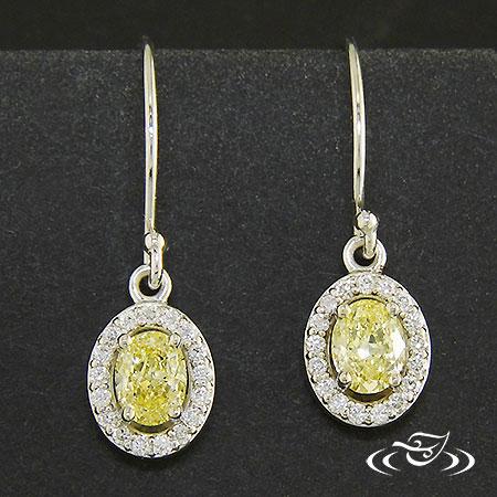 STUNNING YELLOW DIAMOND EARRINGS