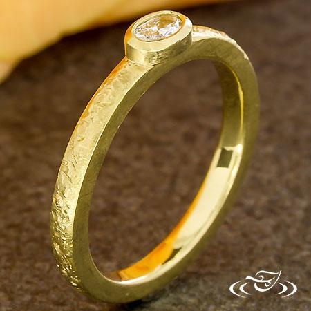 RINGHAMMER STACKABLE GOLD BEZEL RING