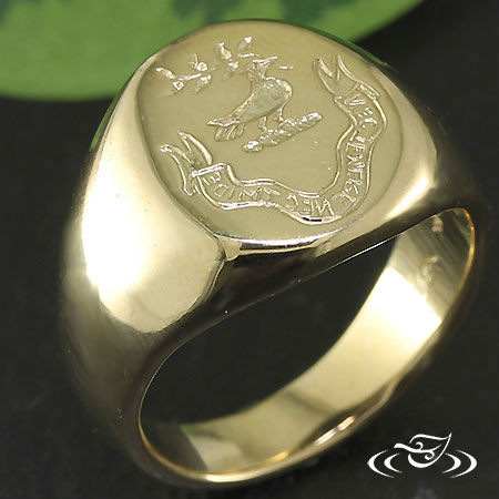 14K YELLOW GOLD WAX RING